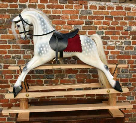 how to dapple rocking horse